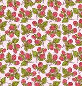 Raspberries pattern — Stock Vector