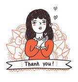 Thank you illustration — Stock Vector