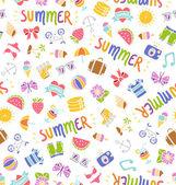 летом картина каракули — Cтоковый вектор