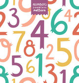 Numbers pattern — Stock Vector