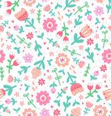 Färgglada tryck blommönster — Stockvektor
