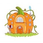 Pumpkin house — Stock Vector #51089159