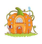 Pumpkin house — Stock Vector