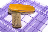 Old wooden brush. — Stock Photo