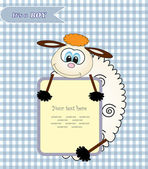 Cute baby shower design. vector illustration — Stock Vector