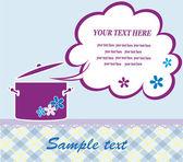 Cute recipe card. vector illustration — Stock Vector