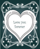 Card - Valentine. vector illustration — Stock Vector