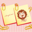 Cute postcard. vector illustration - Stock Vector