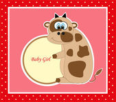 Cute baby card. vector illustration — Vecteur