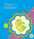 Children's card. vector illustration — Stockvector