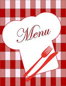 Cute menu card. vector illustration — Stock Vector
