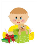 Children's birthday card. vector illustration. — Stock Vector