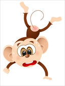 Cute happy birthday monkey. vector illustration — 图库矢量图片