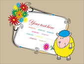 Nice baby card. Vector — Stock Vector