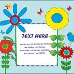 Cute greeting card. vector illustration — Stock Vector #19609319