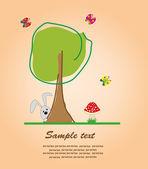 Ницца деревьев. Векторные иллюстрации — Cтоковый вектор