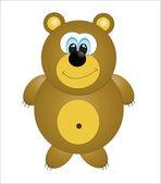 Cute bear. vector illustration — Stock Vector
