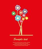 Güzel çiçek kartı. vektör çizim — Stok Vektör