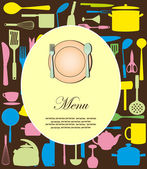 Menu card. vector illustration — Stock Vector