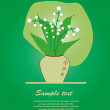 Lilies of the valley. vector illustration - Stock Vector