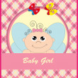 Cute baby card with an angel. vector illustration — Stock Vector
