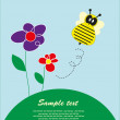 Royalty-Free Stock Vector Image: Children\'s fun card with a bee. vector illustration