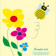 Children's fun card with a bee. vector illustration - Stock Vector