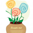 Flowers - Card. vector illustration - Stock Vector