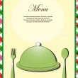 Menu card. vector illustration - Stock Vector
