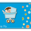Baby postcard album. Vector illustration. — Stock Vector