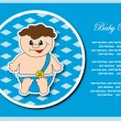 Baby postcard album. Vector illustration. - Stock Vector