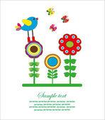 Flower card. vector illustration — Stock Vector