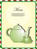 Menu card. vector illustration — Stock Vector