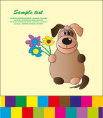 Baby card with animals. vector illustration — Vettoriale Stock