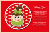 Baby postcard album. Vector illustration. — Wektor stockowy