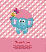 Cartão de bebê com animais. ilustração vetorial — Vetor de Stock