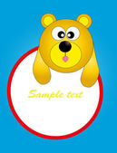 Card for baby with funny animals. vector illustration — Cтоковый вектор