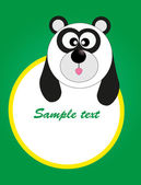 Card for baby with funny animals. vector illustration — Stok Vektör