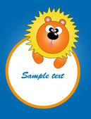 Card for baby with funny animals. vector illustration — Stock Vector