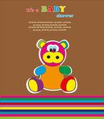 Baby shower - lovely animal. vector illustration — Stock Vector