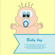 Baby card. vector illustration — Stock Vector #19815043