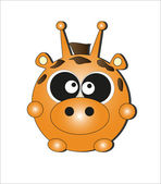 Animal-Card. vector illustration — Stock Vector