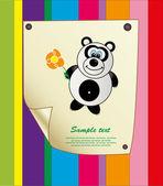 Baby card. vector illustration — Stock Vector