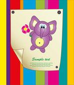 Baby-Karte. Vektor-illustration — Stockvektor