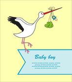 Carte de bébé. illustration vectorielle — Vecteur
