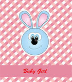 Card for baby. vector illustration — Stock Vector