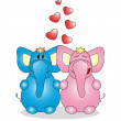 Valentine's Day. Lovers animals. Vector — Stock Vector