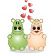 Royalty-Free Stock Immagine Vettoriale: Valentine\'s Day. Lovers animals. Vector