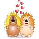 Valentine's Day. Lovers animals. Vector — Stock Vector #19914233