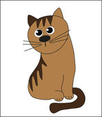 Funny kitten. Vector. — Stock Vector